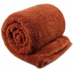 Extra teplá deka Teddy rezavě hnědá