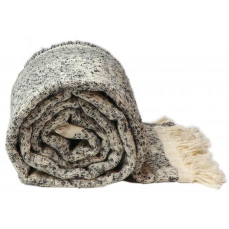Pletená deka Joren v černé barvě