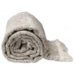 Pletená deka Joren v tmavě šedé barvě