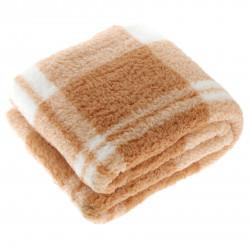 Teplá kostkovaná deka Guus písková