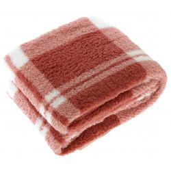 Teplá kostkovaná deka Guus cihlová červená