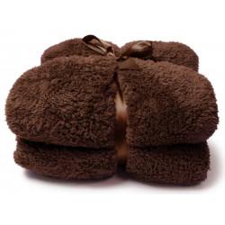 Heboučká deka Teddy tmavě hnědá