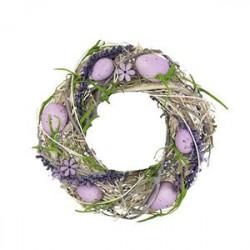 Věnec s vajíčky fialový