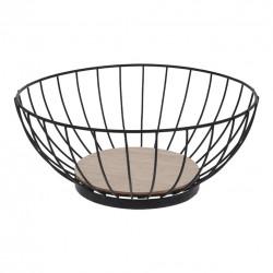 Košík na ovoce kov/dřevo pr. 28 cm
