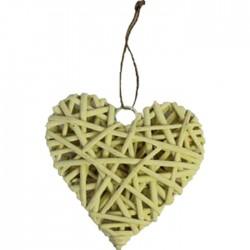 Srdce žluté 25 cm