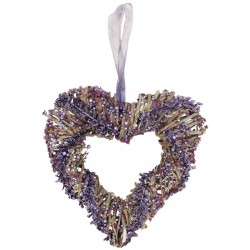 Srdce s fialovými dekoracemi