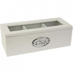 Krabička na čaj bílá D040