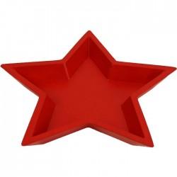 Podnos hvězda, červený