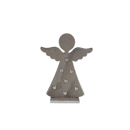 Dřevěný anděl šedý