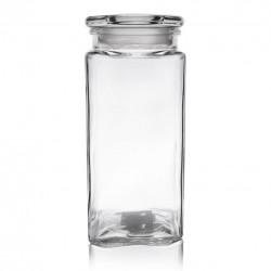 Dóza sklo s víkem 1,8 l hranatá