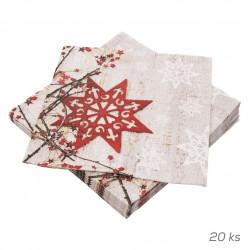 Ubrousek papír Nordic Stars PAW 20 ks 33x33 cm