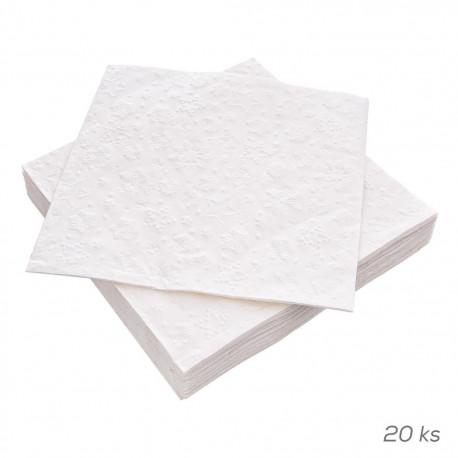 Ubrousek papír Winter Pearl PAW 20 ks 33x33 cm