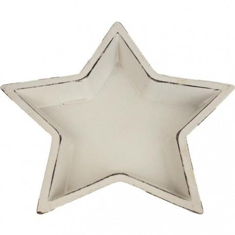 Dřevěný podnos hvězda malý
