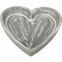 Dřevěný podnos srdce větší