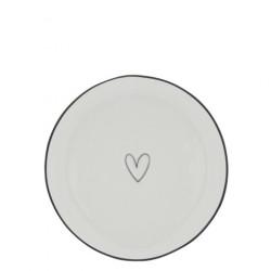 Dezertní talíř SRDCE, černá, 16 cm
