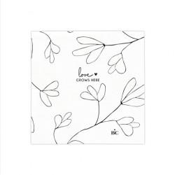 Ubrousky LOVE GROWS HERE, bílá, 20 ks