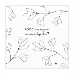 Ubrousky FOOD, bílá, 20 ks
