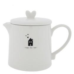 Konvička na čaj TIME FOR TEA, černá, 0,75 l
