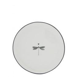 Dezertní talíř VÁŽKA, černá, 16 cm