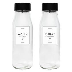 Láhev WATER & TODAY, černá, 8,5x22 cm, 1 ks