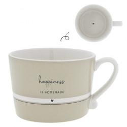 Hrnek HAPPINESS IS HOMEMADE, béžová, 270  ml