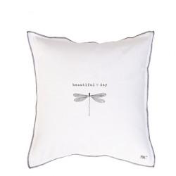 Povlak na polštář BEAUTIFUL DAY, bílá, 50x50 cm