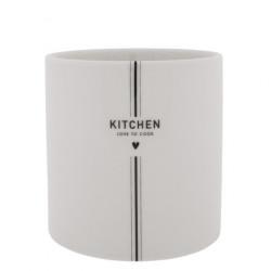 Stojánek na kuchyňské náčiní KITCHEN, bílá, 14,5x14,5 cm