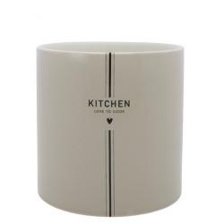Stojánek na kuchyňské náčiní KITCHEN, béžová, 14,5x14,5 cm