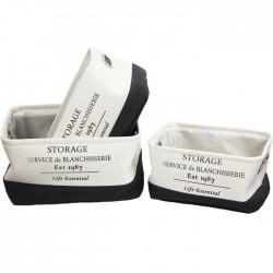 Textilní zásuvky Storage, 3ks