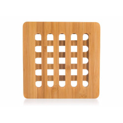 Dřevěná bambusová podložka BRILLANTE - 16 x 16 x 1 cm