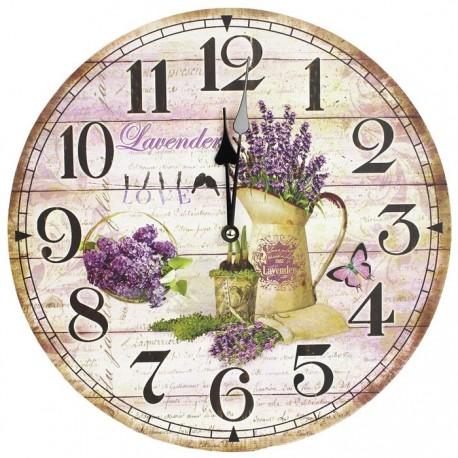 Nástěnné hodiny 34cm - LEVANDULE