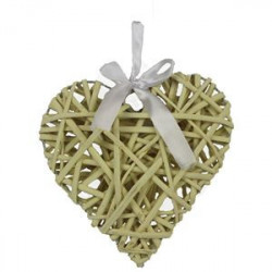 Srdce žluté  20 cm