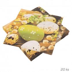 Ubrousek Velikonoční vajíčka 20 ks 33x33 cm