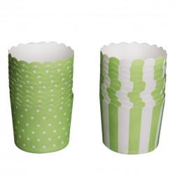 Košík cukrářský papír GREEN pr. 7 cm/20 ks