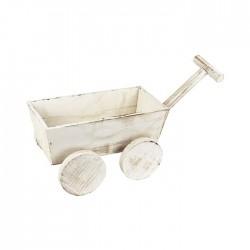Vozík dřevěný dekorační