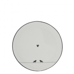 Dezertní talíř LITTLE LOVE BIRDS, černá, 16 cm