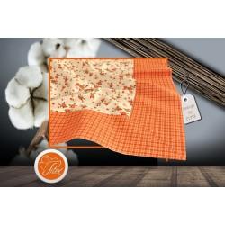 Bavlněný ubrus s lemem EMA Barva: oranžová, Rozměry: 65x65