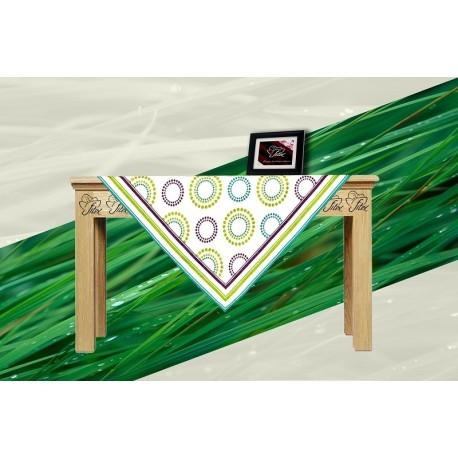 Bavlněný ubrus s lemem ELIDA Barva: zelená, Rozměry: 65x65