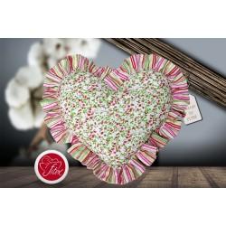 Polštářek srdíčko 40/40 MIRABELA, růžová