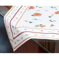 Bavlněný ubrus s lemem KAMELIE Barva: skořicová, Rozměry: 65x65