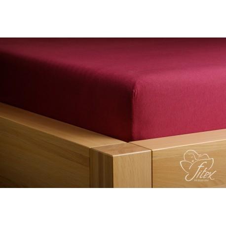 Prostěradlo jersey Bordové Barva: bordová, Rozměr matrace: 90/200/20