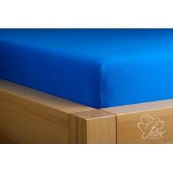 Prostěradlo jersey Královsky modré Barva: královsky modrá, Rozměr matrace: 90/200/20