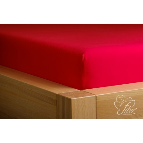 Prostěradlo jersey Červené Barva: červená, Rozměr matrace: 90/200/20