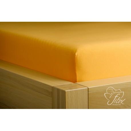 Prostěradlo jersey Pomerančové Barva: pomerančová, Rozměr matrace: 180/200/20