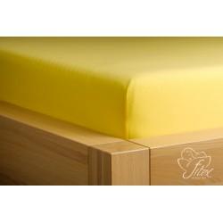 Prostěradlo jersey Citronové Barva: citronová, Rozměr matrace: 180/200/20