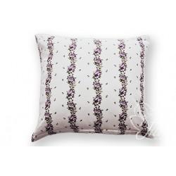 Bavlněný polštářek ADRIA KYTKA Barva: fialová, Rozměry: 40x40