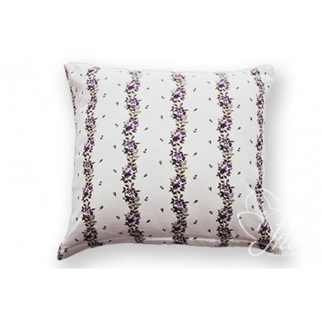 Povlak na polštář 40/40 ADRIA KYTKA, fialová, bavlna