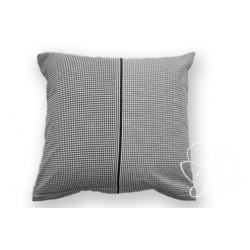 Bavlněný polštářek CUBE Barva: černá, Rozměry: 40x40