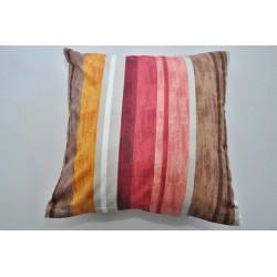 Bavlněný polštářek BAHAMA/pruh Barva: hnědá, Rozměry: 40x40