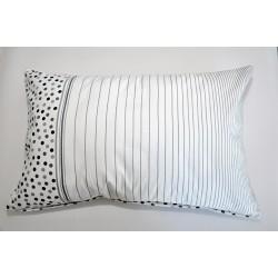 Bavlněný polštářek OLIVER Barva: šedá, Rozměry: 40x60